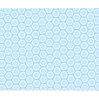 Stwd Pastel Bubbles Woven Portable Mini Fitted Crib Sheet Color: Blue