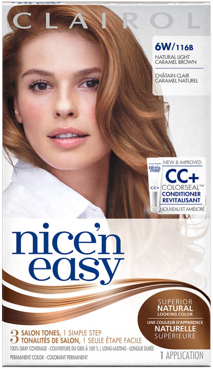 Clairol Nice N Easy 6w 116b Natural Light Caramel Brown 1kit Reviews