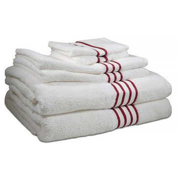 Hotel Fine Linens 600 GSM 100% Pima Cotton 6 Piece Towel Set Color: Berry