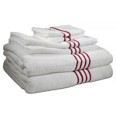 Hotel Fine Linens 600 GSM 100% Pima Cotton 6 Piece Towel Set Color: Berry