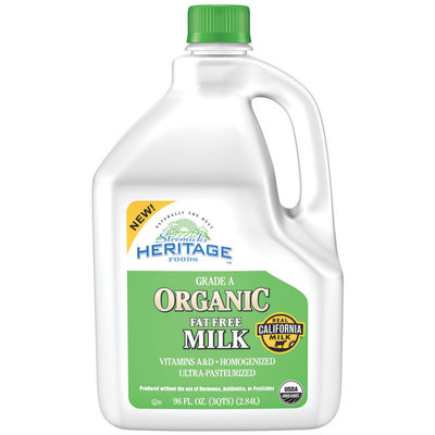 Stremicks Heritage Foods® Organic Fat Free Milk 96 fl. oz. Jug