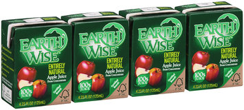 Earth Wise™ Entirely Natural 100% Apple Juice from Concentrate 4.23 fl. oz. Carton