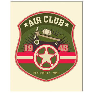 Secretly Designed Pilot Badge Art Print Size: 11