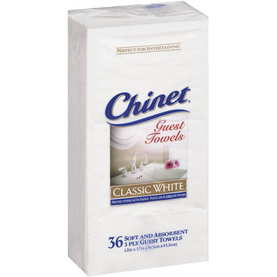 Napkins and Tablecovers Classic White 3 Ply Guest Towel 36 Ct