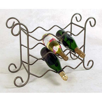 Grace 9 Bottle Tabletop Wine Rack Finish: Stone