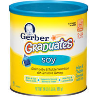 Gerber® Graduates® Soy Based Powder Crawler 9-24 Months Infant & Toddler Formula 24 oz. Canister