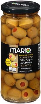 Mario® Reduced Sodium Pimiento Stuffed Spanish Olives 7 oz. Jar