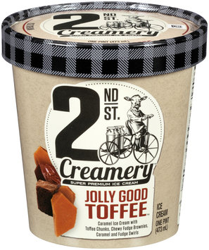 2nd St. Creamery™ Jolly Good Toffee™ Ice Cream 1 pt. Cup