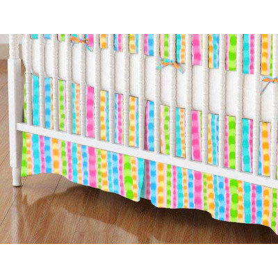 Stwd Pearl Stripes Crib Skirt