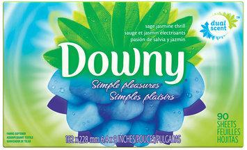 Downy® Simple Pleasures Sage Jasmine Thrill Fabric Softener Sheets 90 ct Box