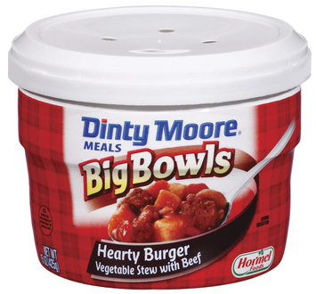 DINTY MOORE Hearty Burger Vegetable Stew W/Beef Big Bowls Meals 15 OZ MICROWAVE BOWL