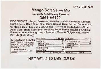 Dole® Soft Serve Mango Soft Serve Mix 4-4.5 lb. Bags