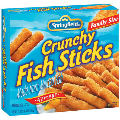 Springfield Crunchy Breaded Family Size 42 Ct Fish Sticks 24 Oz Box