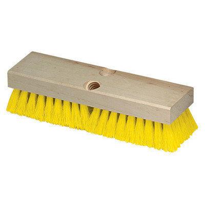 Carlisle Brooms & Mops 10 in. Polypropylene Yellow Deck Scrub Brush (Case of 12) 36193MX04
