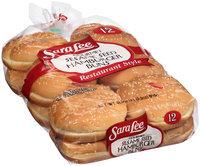 Sara Lee® Restaurant Style Gourmet Sesame Seed Hamburger Buns 12 ct Bag