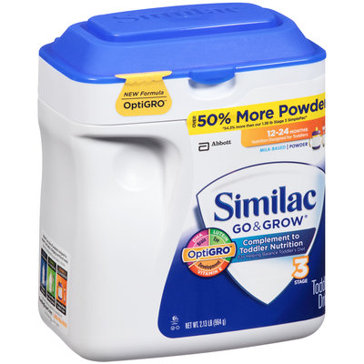 Similac Go & Grow® Complement to Toddler Nutrition Milk Based Powder 2.13 lb. Tub
