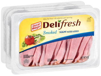 Oscar Mayer Deli Fresh Smoked Shaved 9 Oz Ham 3 Pk