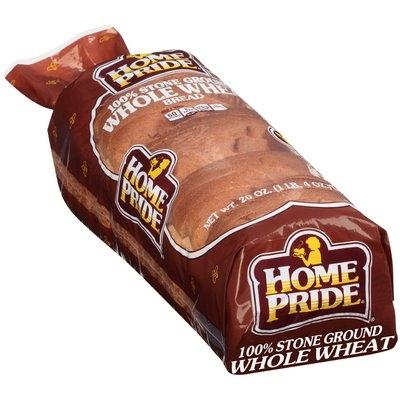 Home Pride® 100% Stone Ground Wheat Bread 20 oz. Loaf