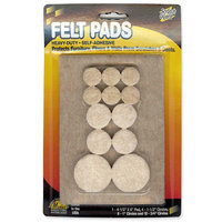 MASTER CASTER COMPANY Felt Pads, Assorted Combo, 25/PK, Beige