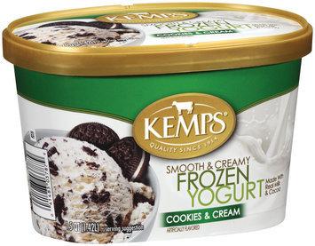 Kemps Cookies & Cream Frozen Yogurt 1.5 Qt Carton