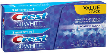 3D White Crest 3D White Foaming Clean Whitening Toothpaste