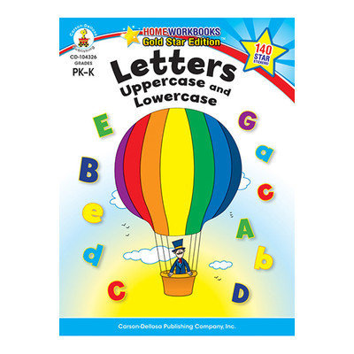 Carson-dellosa Publishing Carson Dellosa CD104326 Letters Uppercase Lowercase Home Workbook Gr PkK