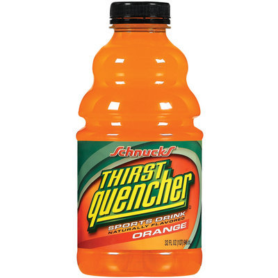 Schnucks Thirst Quencher Orange Sports Drink 32 Oz Plastic Bottle