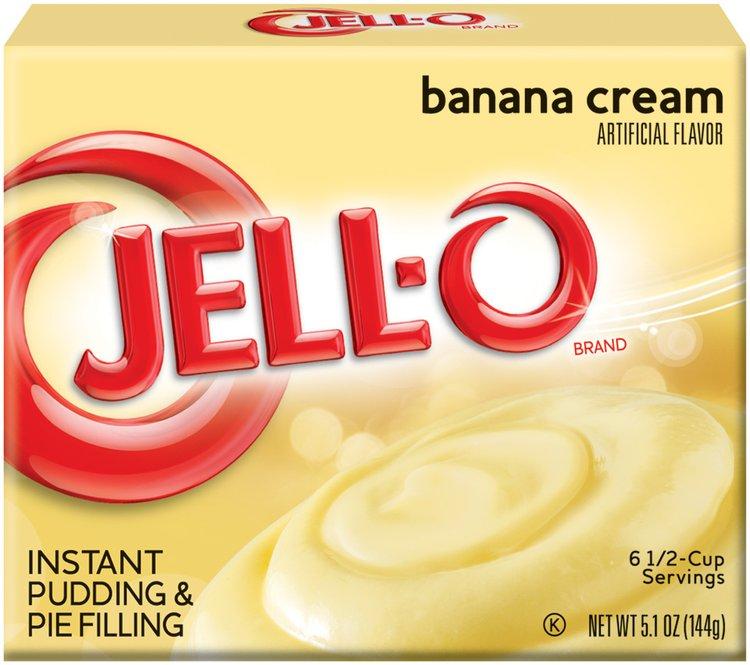 Jell-O Instant Banana Cream Pudding & Pie Filling 5.1 oz. Box