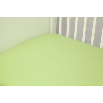 Riegel Cotton Solid Crib Sheet Color: Green