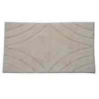 Textile Decor Castle 100% Cotton Diamond Spray Latex Back Bath Rug, 40 H X 24 W, Ivory