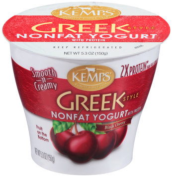 Kemps® Greek Style Black Cherry Nonfat Yogurt with Protein 5.3 oz. Cup