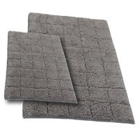 Textile Decor Castle 2 Piece 100% Cotton Summer Tile Spray Latex Bath Rug Set, 24 H X 17 W and 30 H X 20 W