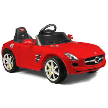Vroom Rider Mercedes-Benz SLS AMG Rastar 6V Battery Powered Car, Red