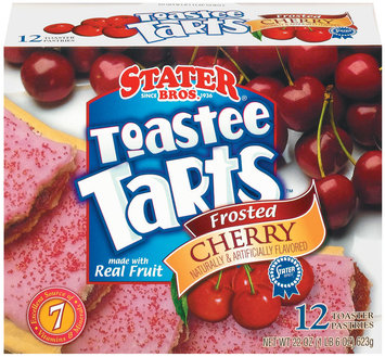 Stater Bros. Frosted Cherry 12 Ct Toastee Tarts 22 Oz Box