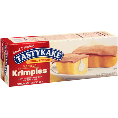 Tastykake® Krimpies™ Vanilla Chocolate Iced Sponge Cakes 14 oz. Box