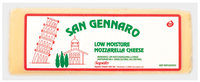 San Gennaro Mozzarella Low Moisture  Cheese 6 Lb Brick