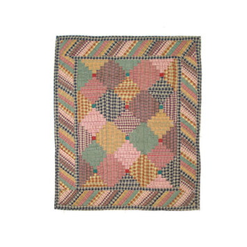 BELLACOR QCHLC Harvest Log Cabin Quilt Crib 36 x 46 Inch