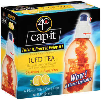 4C Cap-It™ Liquid Water Enhancer Iced Tea .81 fl. oz. Box