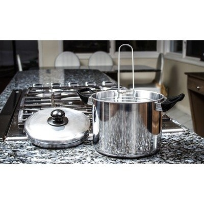 Imperial Home Non-Stick Stockpot and Wire Frying Basket Set