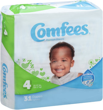 CMF-4 Comfees® Baby Diapers Size 4, 31 count