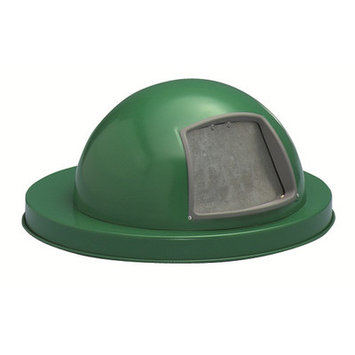 Witt Expanded Metal Series Heavy Duty Dome Top Cover Finish: Powder Coat Green