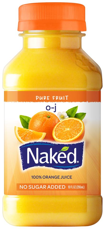 NAKED JUICE O-J 100% Juice 10 OZ PLASTIC BOTTLE