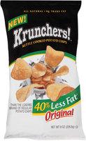 Krunchers!® Less Fat Original Kettle Cooked Potato Chips 8 oz. Bag