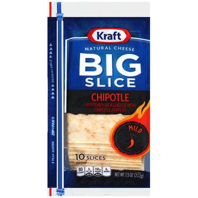 Kraft Big Slice Chipotle Natural Cheese Slices 10 ct ZIP-PAK®