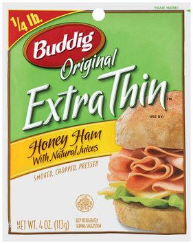 Buddig Original Extra Thin™ Honey Ham 4 Oz Peg