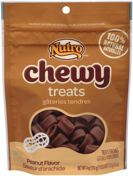 Nutro® Chewy Peanut Flavor Dog Treats 4 oz. Pouch