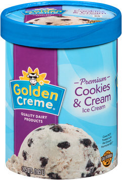 Golden Creme® Premium Cookies & Cream Ice Cream 1.75 qt. Tub