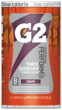 G2 G Series Perform Grape Powder Sports Drink Powder .52 Oz Canister