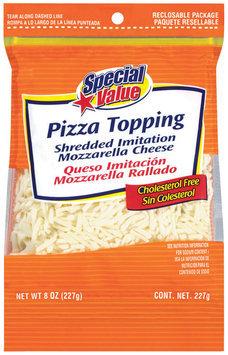 Special Value Shredded Imitation Mozzarella Pizza Topping 8 Oz Peg