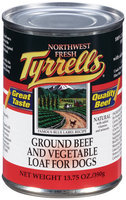 Tyrrells® Ground Beef and Vegetable Loaf for Dogs 13.75 oz. Can
